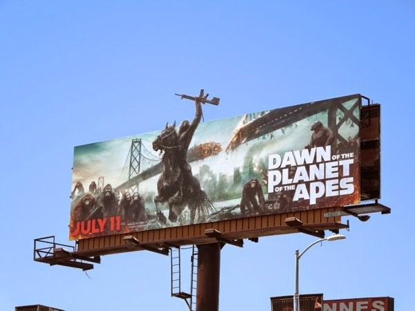 dawn planet apes movie billboard